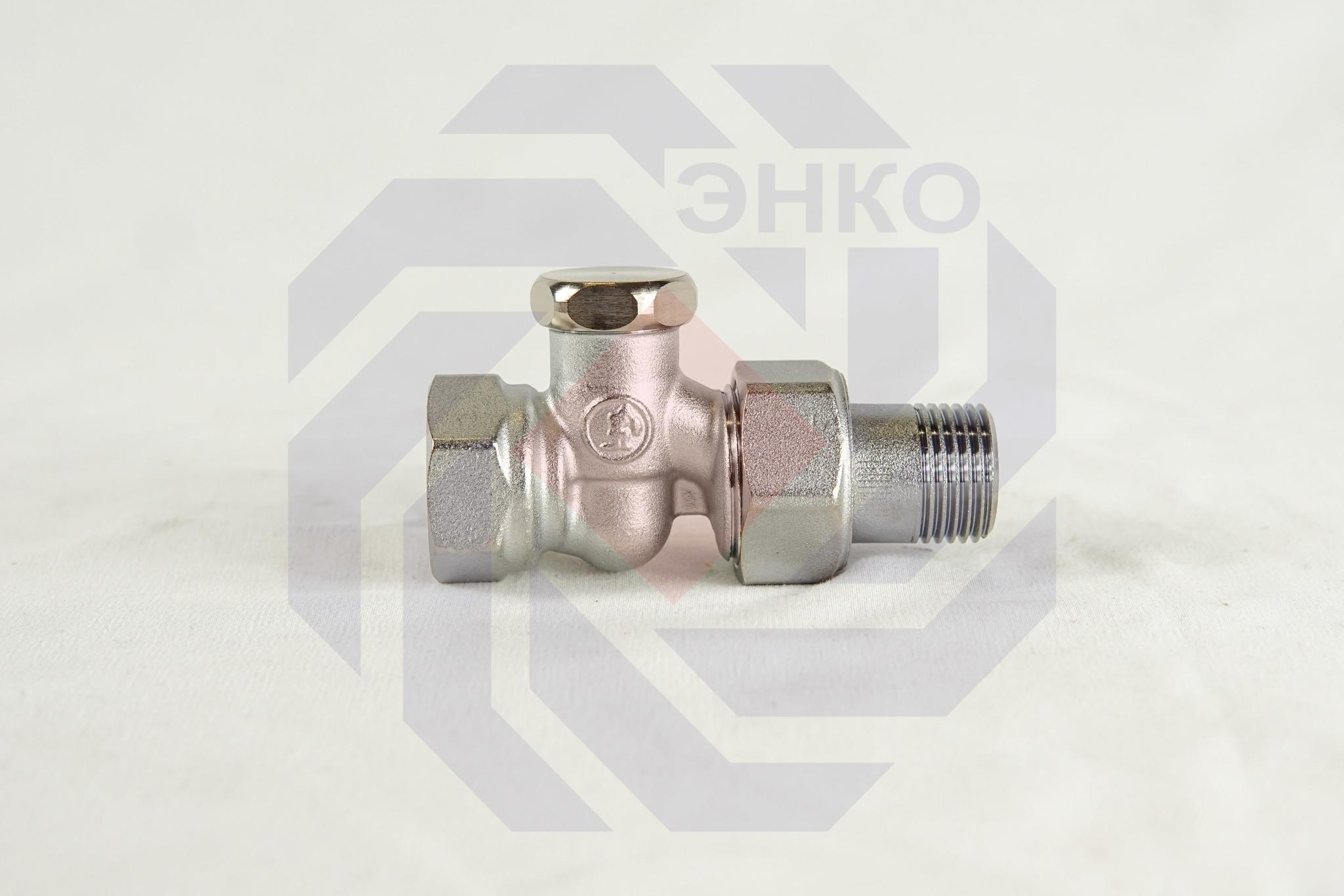 Клапан радиаторный отсечной GIACOMINI R17D2 прямой ½