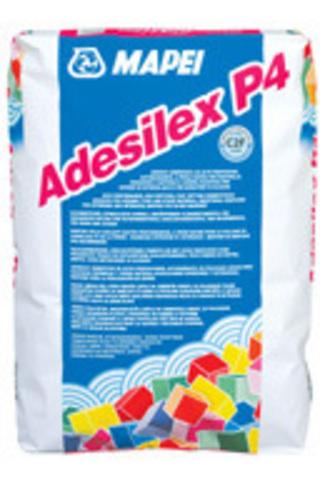 Mapei Adesilex P4/Мапей Адесилекс П4 Быстросхватывающийся высококачественный цементный клей для беспустотной укладки керамической плитки и натурального камня.