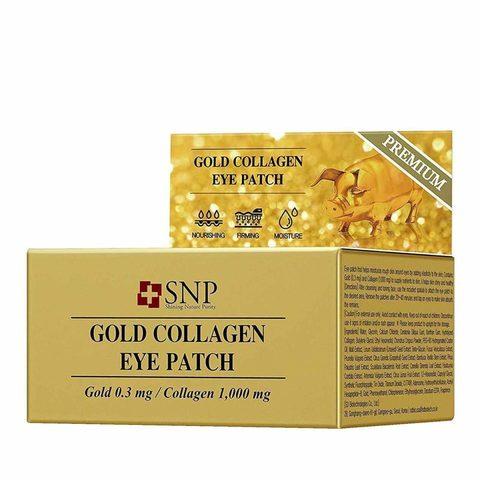 Гидрогелевые патчи для глаз SNP с коллагеном и частицами золота 60 шт