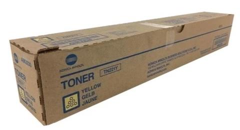 Оригинальный картридж Konica Minolta TN-221Y A8K3250 желтый