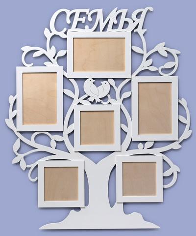 Деревянная фоторамка ДекорКоми коллаж в форме дерева