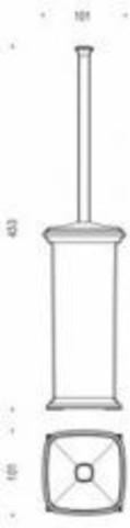 Ершик напольный Colombo Portofino  B3206, хром схема