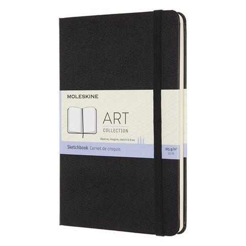 Блокнот для рисования Moleskine ART SKETCHBOOK ARTQP054 Medium 115x180мм 144стр. нелинованный мягкая обложка черный
