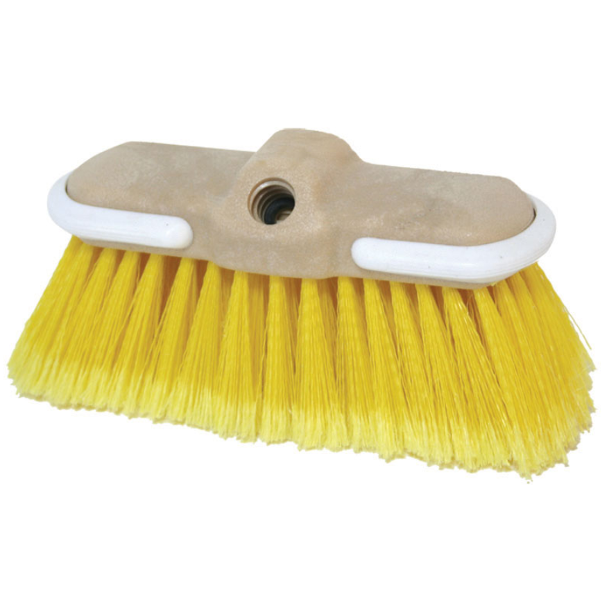 Boat wash brush 'flow Thru', Medium Bristle, yellow