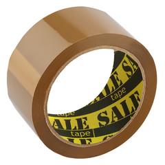 Скотч клейкая лента упаковочная коричневая 48 мм x 66 м толщина 40 мкм (6 штук в упаковке)
