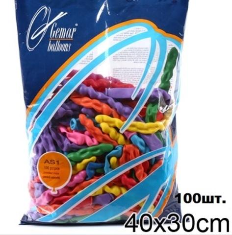 Воздуш. шары 1106-0035 Фигура Спираль (100 шт.)