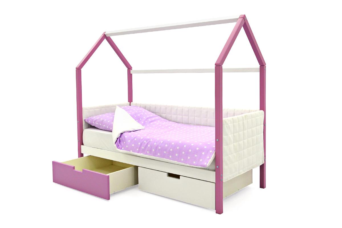Кровать-домик «Svogen лаванда-белый»