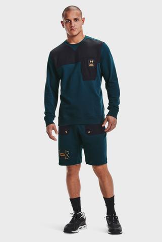 Мужские синие шорты UA RIVAL TERRY SCRIBBLE SH Under Armour