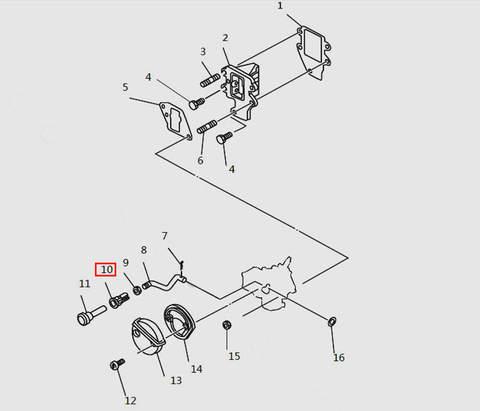 Втулка подсоса карбюратора для лодочного мотора T9.8 Sea-PRO (4-10)