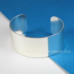 Винтажная основа для браслета (ширина - 28 мм) (оксид серебра)