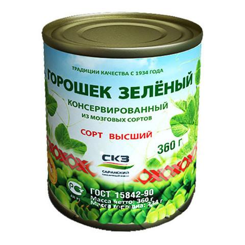 Горошек зеленый Саранск МИНИМАРКЕТ 0,38кг