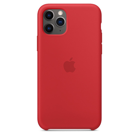 Чехол IP11 PRO MAX Silicone Case Red