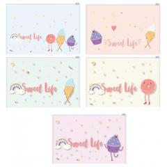 Папка-конверт на молнии  Z-L Attache Selection Sweet life А4 200мкм  5шт/уп