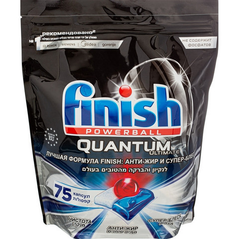 Таблетки для ПММ Finish Quantum Ultimate 75 капсул дойпак 937,5 гр