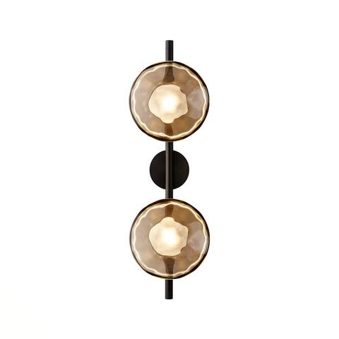 Настенный светильник копия Ceto by Ross Gardam 2 плафона на ножке (черный)