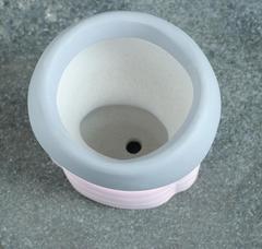 Кашпо керамическое фигурное