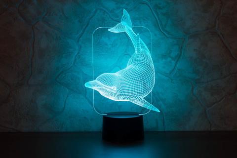 Светильник Плывущий дельфин
