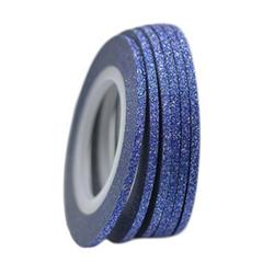 Фольга-лента на клейкой основе блестящая (синяя)