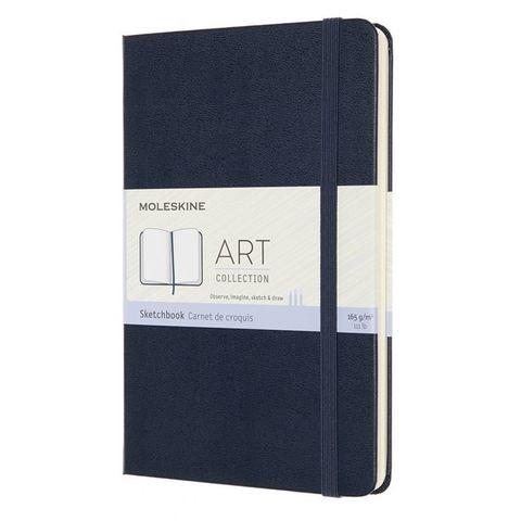 Блокнот для рисования Moleskine ART SKETCHBOOK ARTQP054B20 Medium 115x180мм 144стр. нелинованный мягкая обложка синий