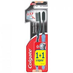 Зубная щетка Colgate Шелк. Нити с углем (черная) 1+1 мягкая