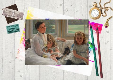 Портрет миссис Кэтрин Смит Гилл и двоих ее детей