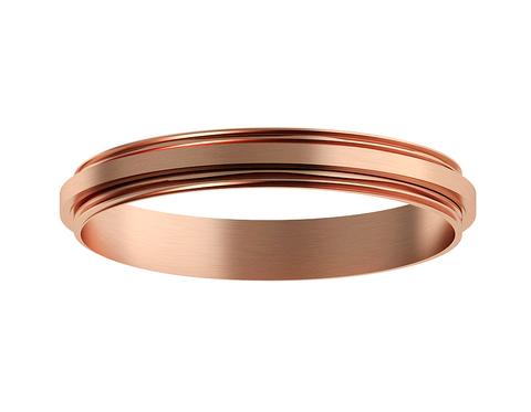 Коннектор декоративный для соединения корпуса светильника D70+D70mm A2073 PPG золото розовое полированное D70*H9mm Out1.5mm