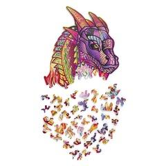 Волшебный Дракон от Wood Trick - сборные пазлы причудливой формы, это картины, которые вы собираете сами