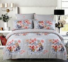 Сатиновое постельное бельё  1,5 спальное Сайлид  В-164