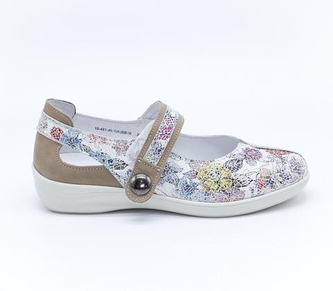 Комбинированные туфли из натуральной кожи