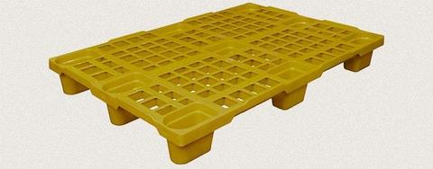 Поддон пластиковый перфорированный 1200x800x150 мм. Цвет: Желтый