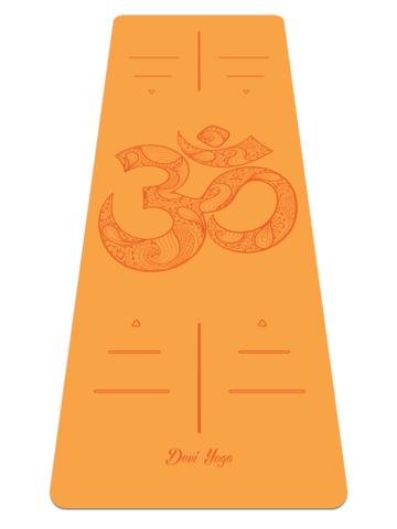 Каучуковый йога коврик Om Orange 185*68*0,4 см