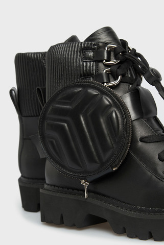 Женские черные кожаные ботинки Palma PRPY