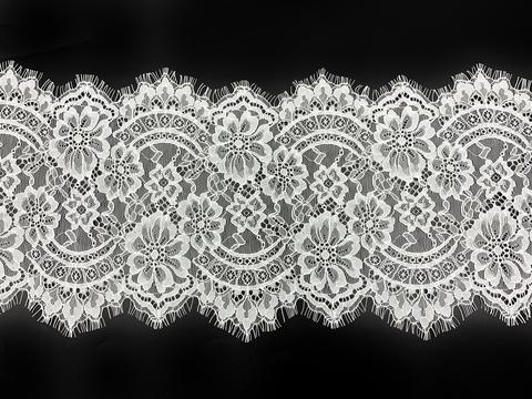 Кружево реснички белое (17*290 см)