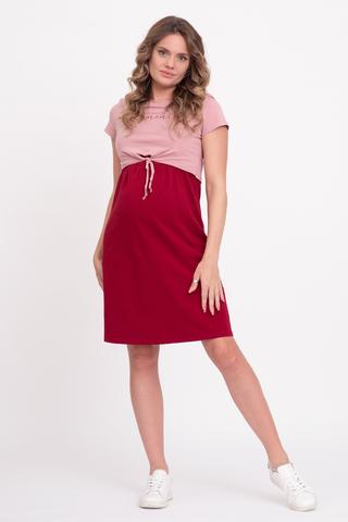 Платье для беременных и кормящих 12515 бордовый