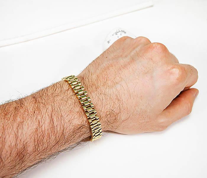 BM341-2 Классический браслет из стали золотистого цвета фото 07