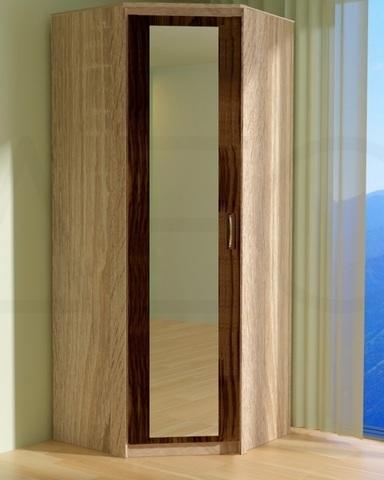 Шкаф угловой ПРАГА с зеркалом левый /903*2200*903/