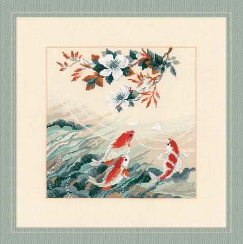 Набор для вышивания крестом «Танцующие рыбки» (1574)