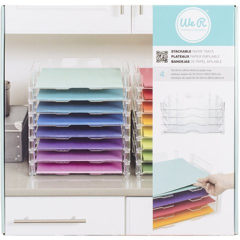 Органайзер для бумаги Stackable Acrylic Paper Trays Retail Packaged -4 яруса