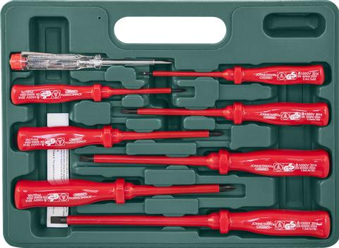 D02AP08S Набор отверток стержневых диэлектрических, 8 предметов