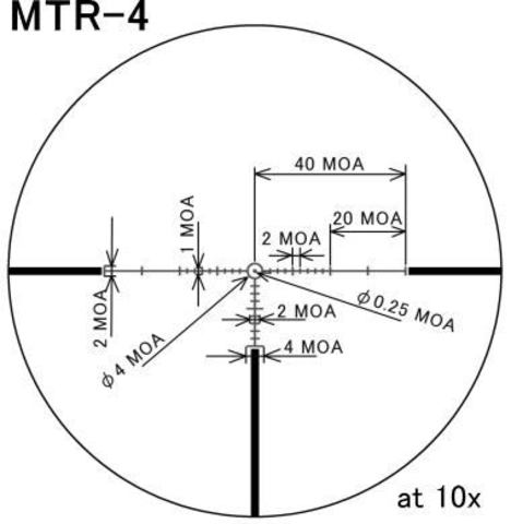March 1-10x24 illuminated MTR-4 Reticle # D10V24TI