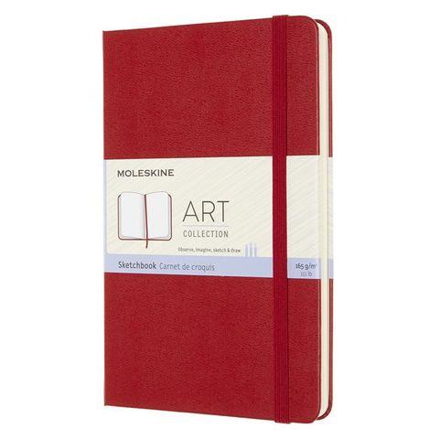 Блокнот для рисования Moleskine ART SKETCHBOOK ARTQP054F2 Medium 115x180мм 144стр. нелинованный мягкая обложка красный