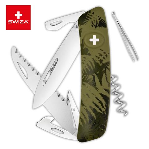 Швейцарский нож Swiza  (KNI.0050.2050) C05 Camouflage 95 мм 12 функций хаки