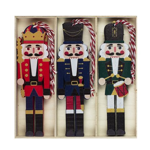 Набор из 9 елочных украшений Щелкунчик