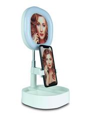 Косметическое зеркало с кольцевой лампой подсветкой Live makeup Y3 (Белое)
