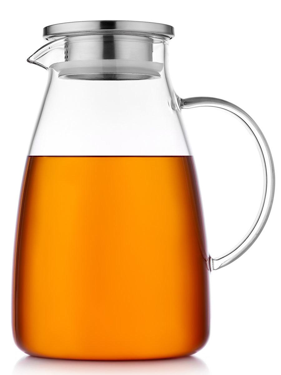 Кувшины, графины (для горячих и холодных напитков) Кувшин для воды стеклянный с крышкой фильтром 2000 мл Leo Glaffe Kuvshin-dlya-vodi-4-016-2000-teastar.jpg