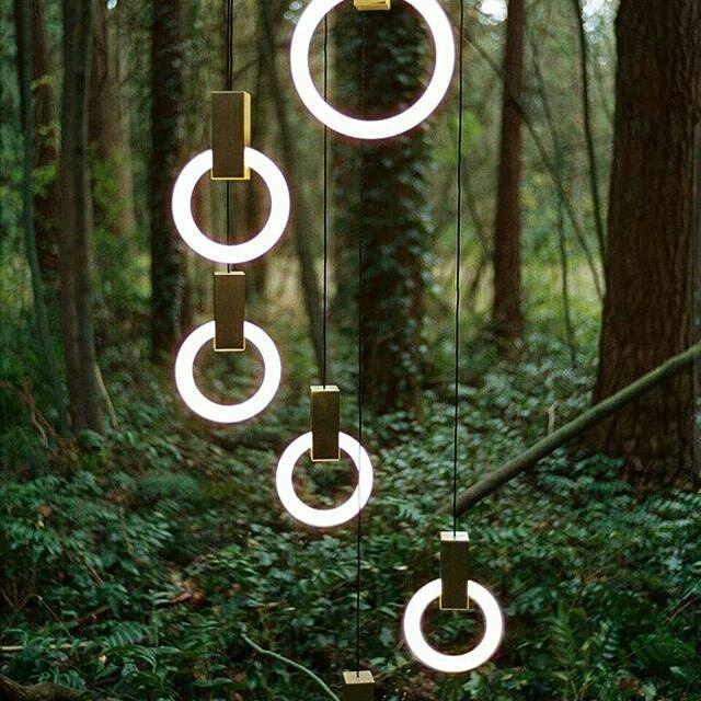 Подвесной светильник Halo by  Matthew McCormick (3 плафона 20/30/30)