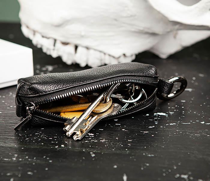 BC218-1 Удобная ключница «Santini» из натуральной кожи с кольцом фото 12
