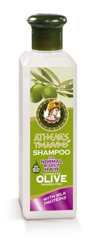 Натуральный шампунь для нормальных и жирных волос ATHENAS TREASURES 250 мл