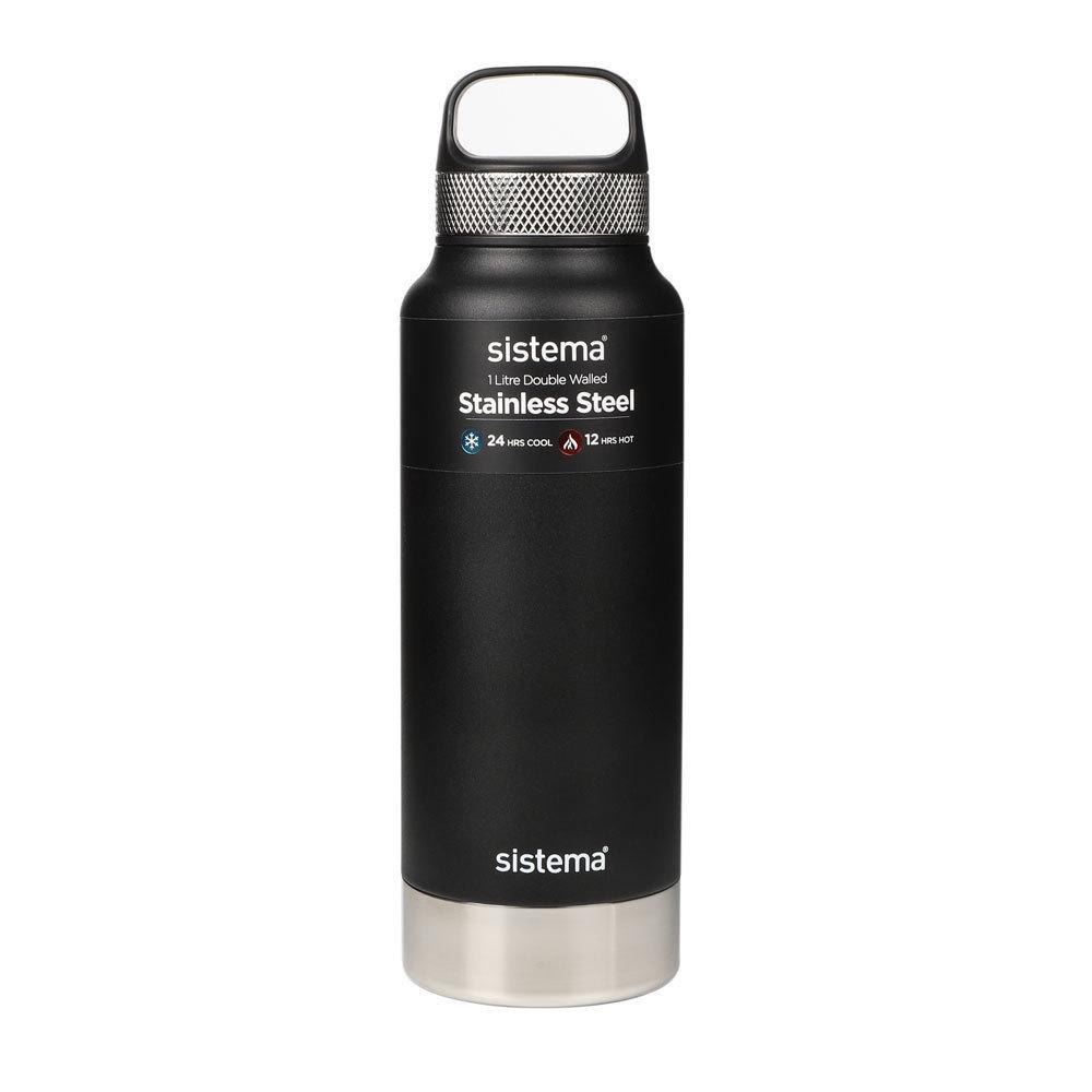 """Термобутылка Sistema """"Hydrate"""" 1 л, цвет Черный"""