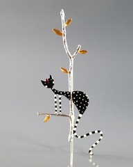 Брошь «Кошка на дереве», Греция